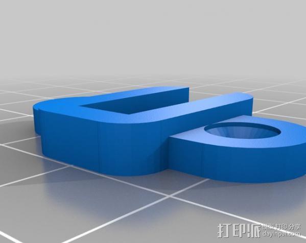 垂直板锚 3D模型  图2