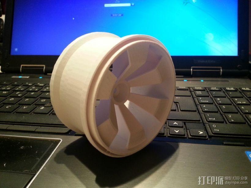 车轮 3D模型  图1