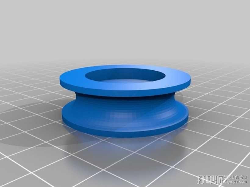 船首斜桅转动块 3D模型  图1