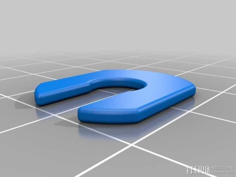 吉他固定夹 3D模型  图1