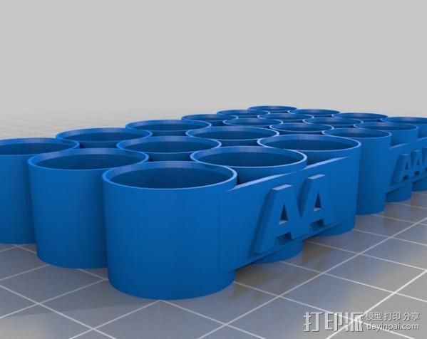 AA和AAA电池座 3D模型  图2