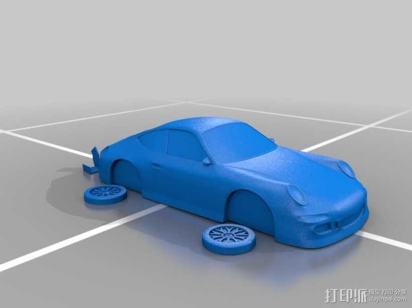 保时捷911 3D模型  图2