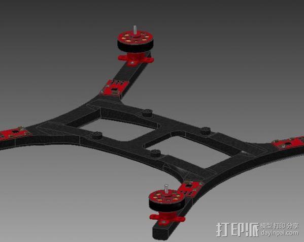 微型四轴飞行器 3D模型  图2