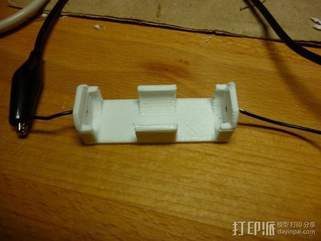 参数型电池夹 3D模型  图1