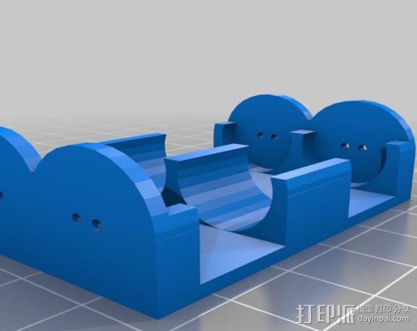 参数型电池夹 3D模型  图3