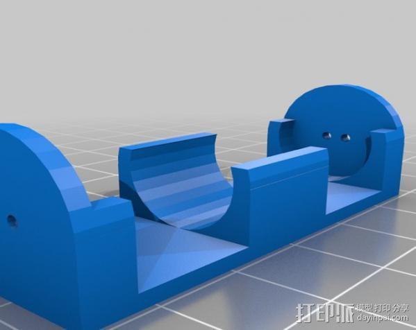 参数型电池夹 3D模型  图2