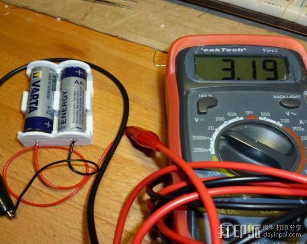 参数型电池夹 3D模型  图4