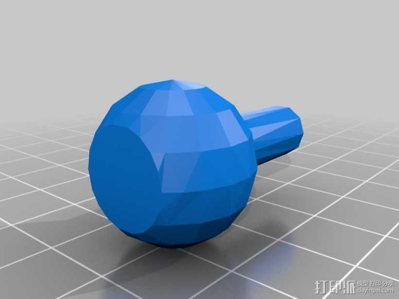 GoPro固定旋转槽 3D模型  图4