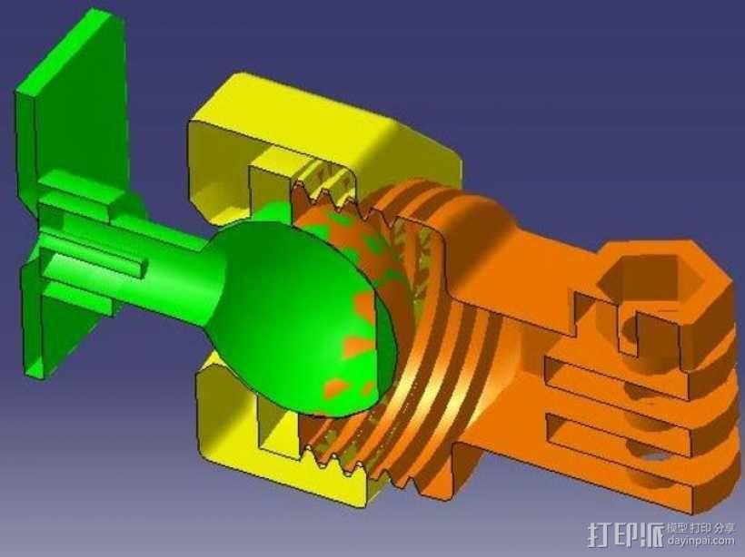 GoPro固定旋转槽 3D模型  图3
