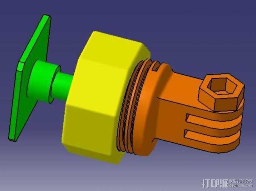 GoPro固定旋转槽 3D模型  图2