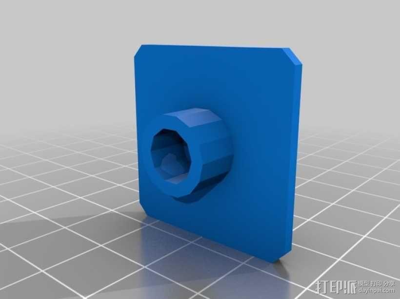 GoPro固定旋转槽 3D模型  图5