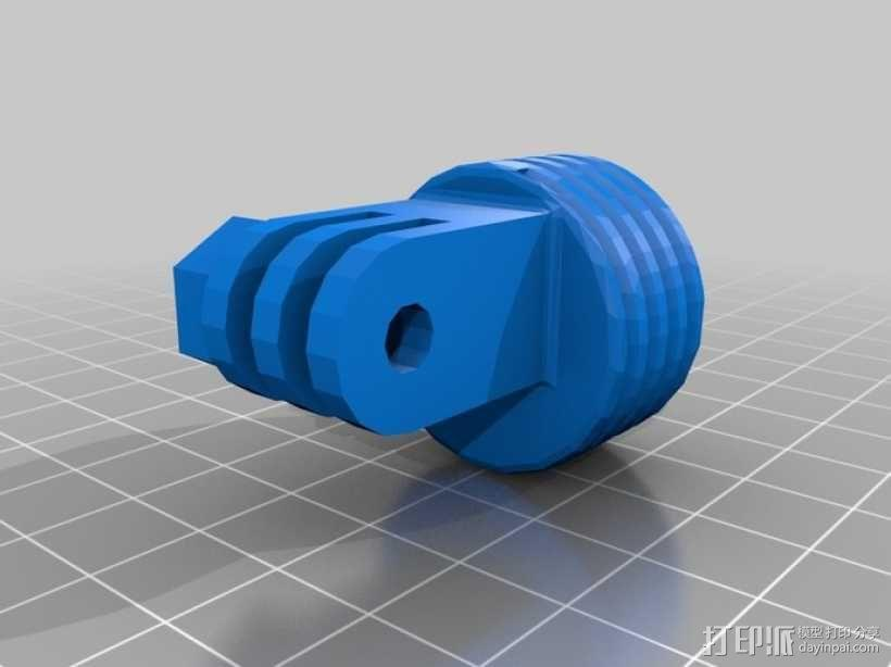 GoPro固定旋转槽 3D模型  图6
