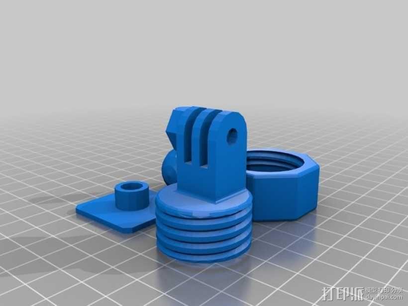 GoPro固定旋转槽 3D模型  图8
