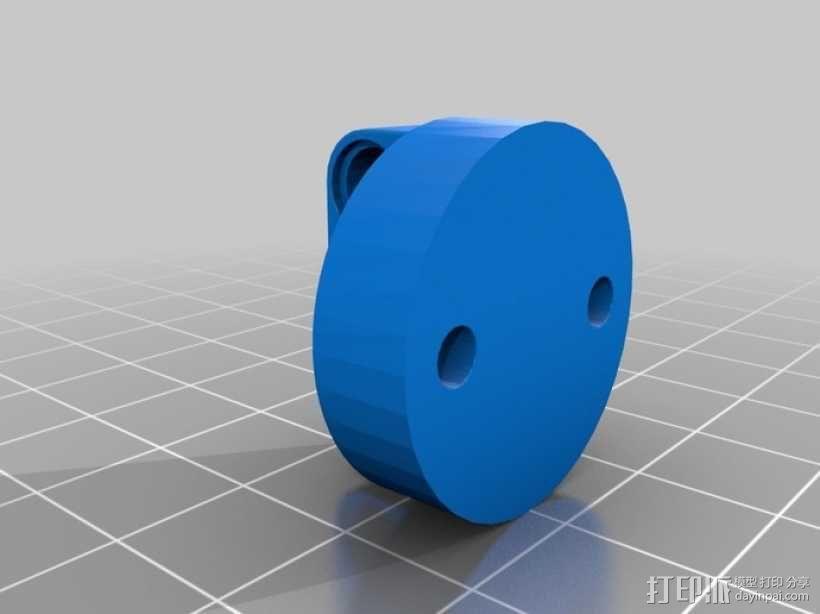 乐高伺服固定槽 3D模型  图2