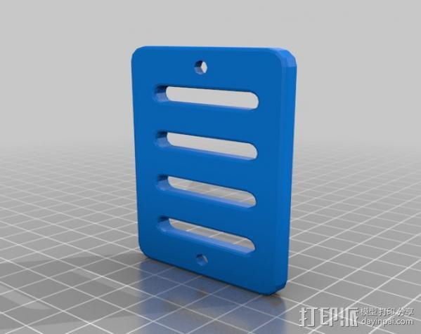 背包带上的gopro固定夹 3D模型  图3