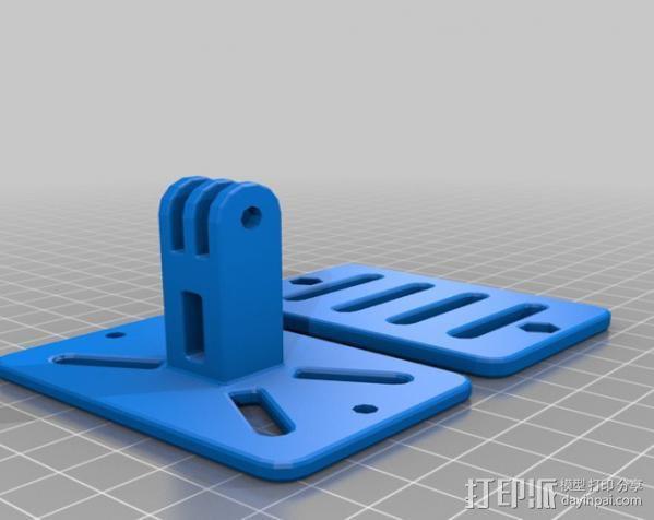 背包带上的gopro固定夹 3D模型  图5
