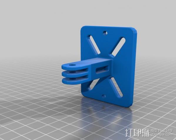 背包带上的gopro固定夹 3D模型  图4