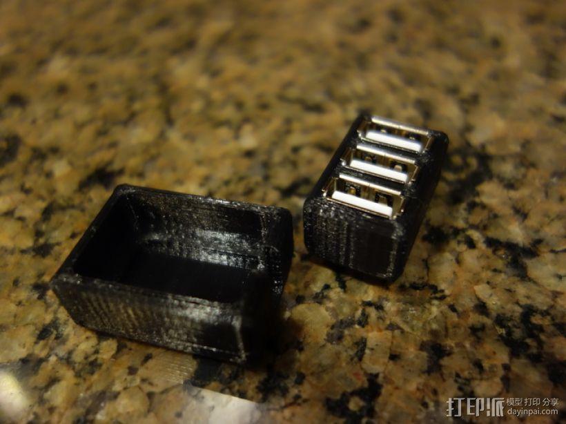 USB衔接器 3D模型  图2
