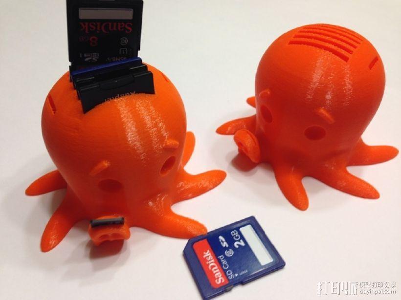 SD卡 章鱼卡槽 3D模型  图1