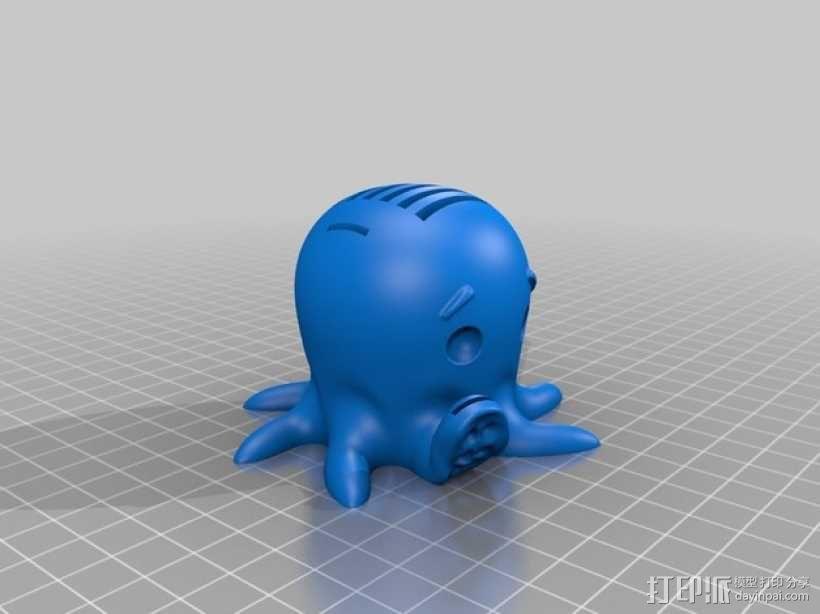 SD卡 章鱼卡槽 3D模型  图2