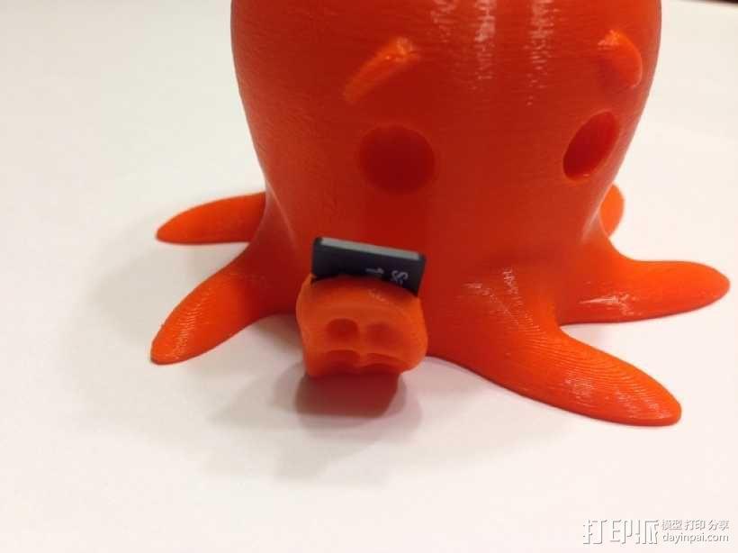 SD卡 章鱼卡槽 3D模型  图3