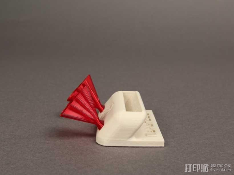 手机扩音器 3D模型  图2