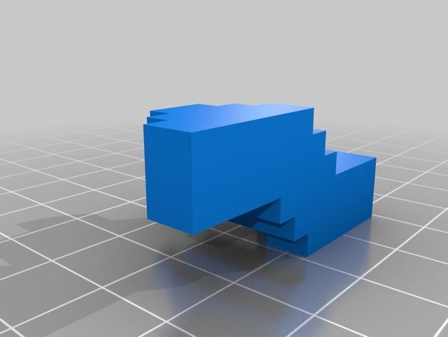 超级玛丽火焰花 3D模型  图3