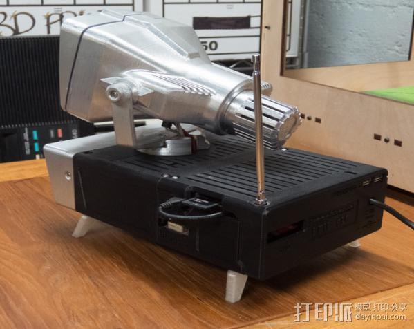 PHIL复古台式电脑/媒介中心 3D模型  图3