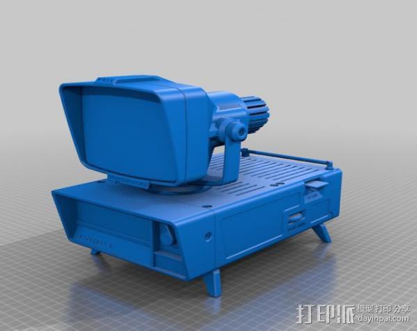 PHIL复古台式电脑/媒介中心 3D模型  图5