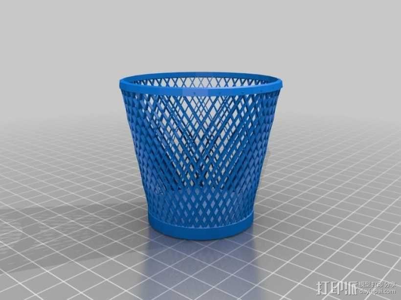 纸篓 3D模型  图2