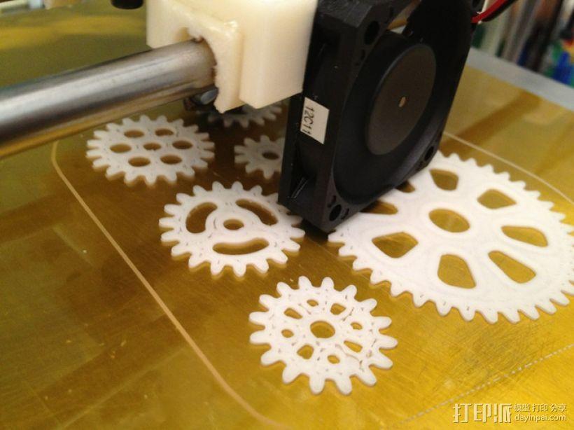 齿轮手机壳 3D模型  图4