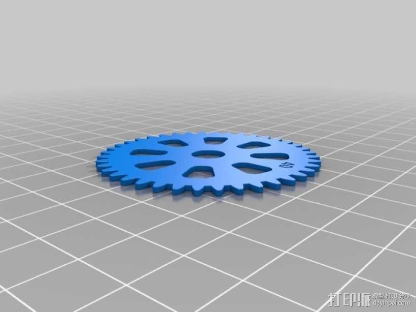 齿轮手机壳 3D模型  图6