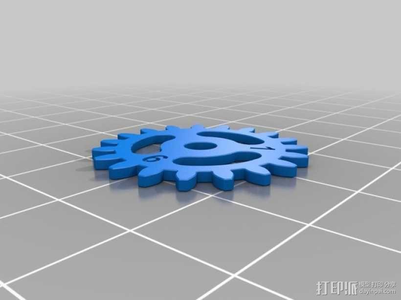 齿轮手机壳 3D模型  图8