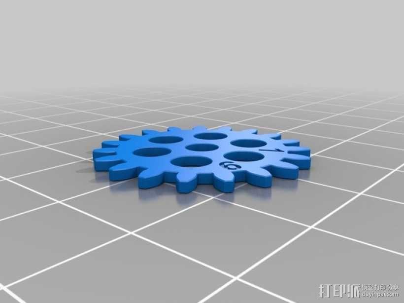齿轮手机壳 3D模型  图7