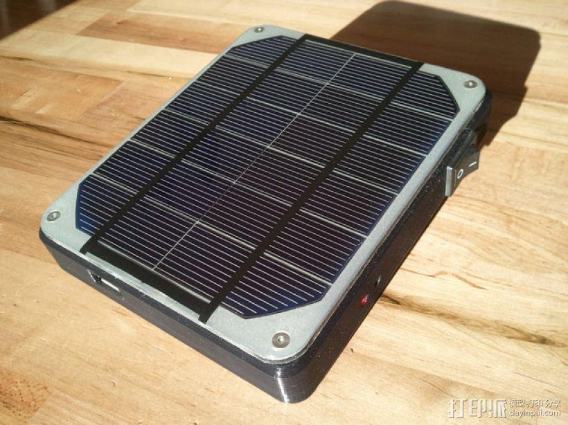 太阳能充电器 手电筒 3D模型  图1
