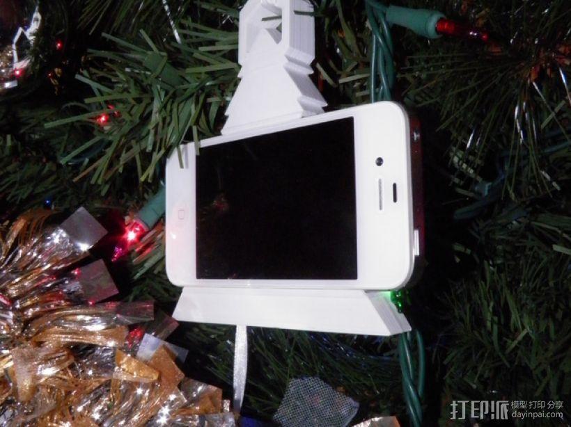 圣诞装饰品:iPhone音乐播放器 3D模型  图1