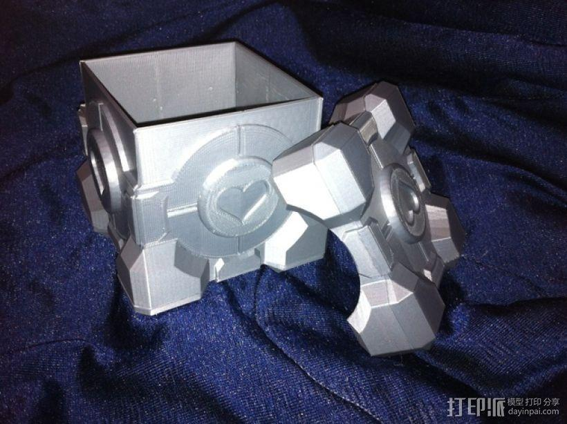 立方体礼品盒 3D模型  图1