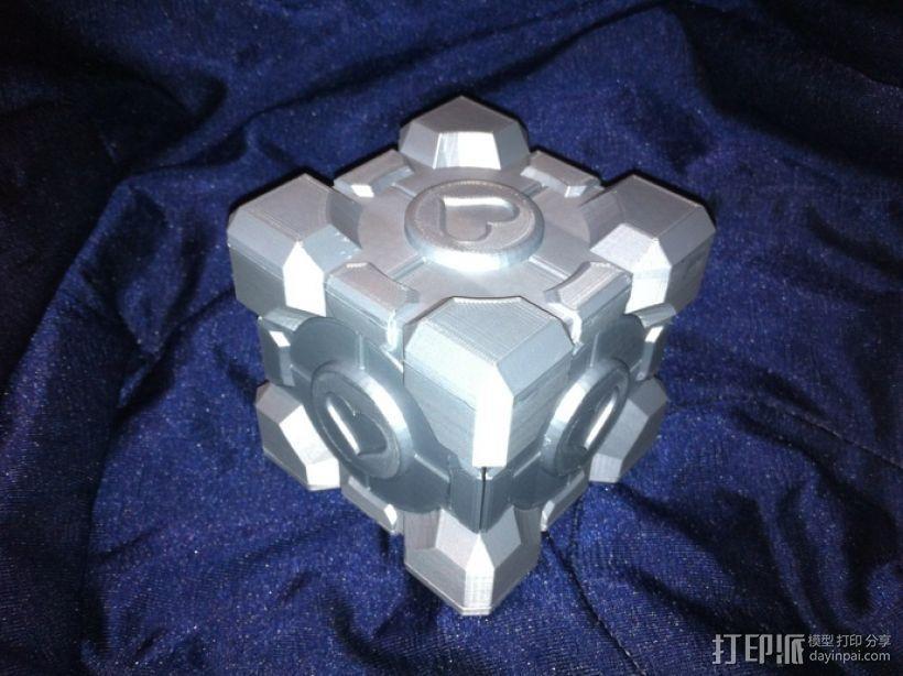 立方体礼品盒 3D模型  图2