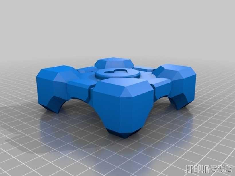 立方体礼品盒 3D模型  图4
