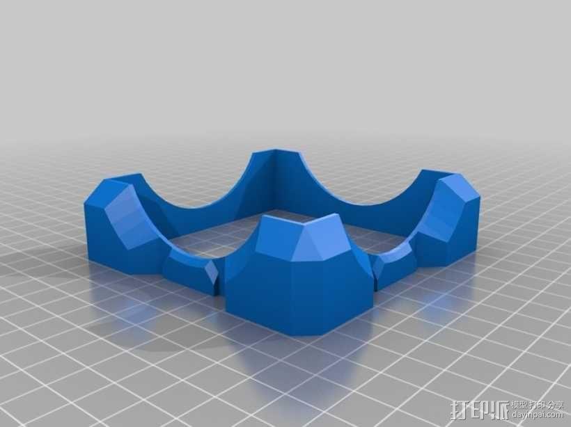 立方体礼品盒 3D模型  图6