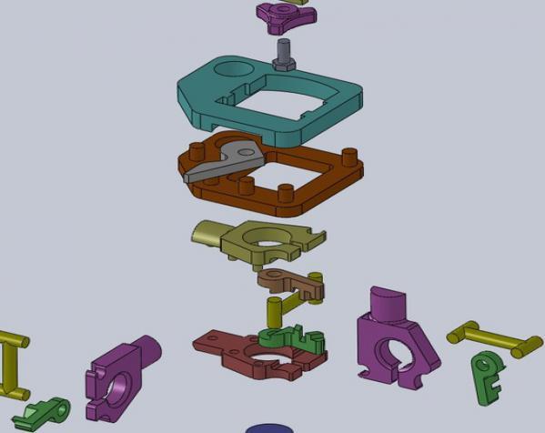 三脚架倾斜头 3D模型  图3
