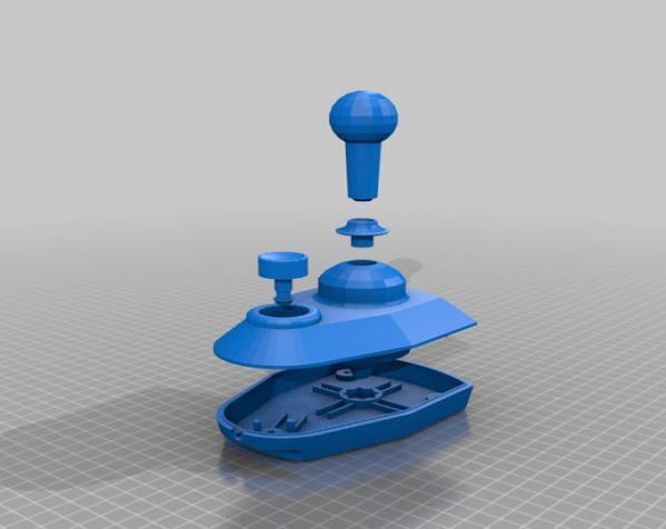 街机摇杆 3D模型  图2