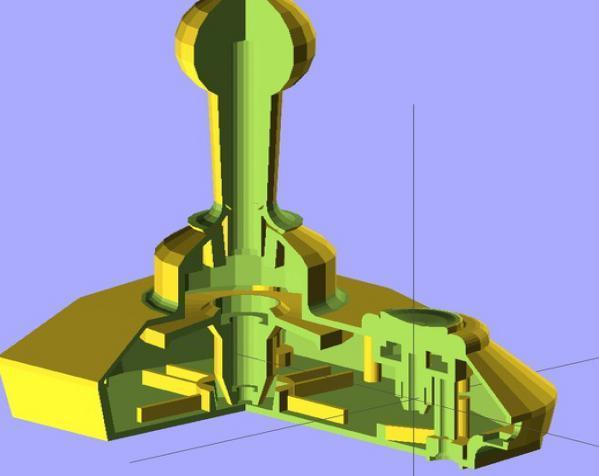 街机摇杆 3D模型  图4