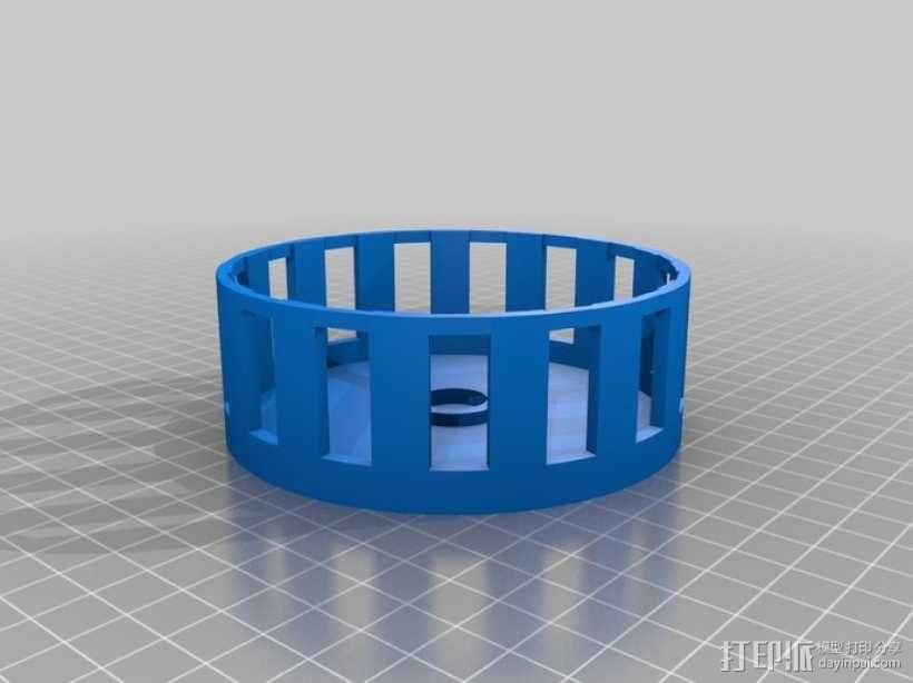 音乐汽笛 3D模型  图1