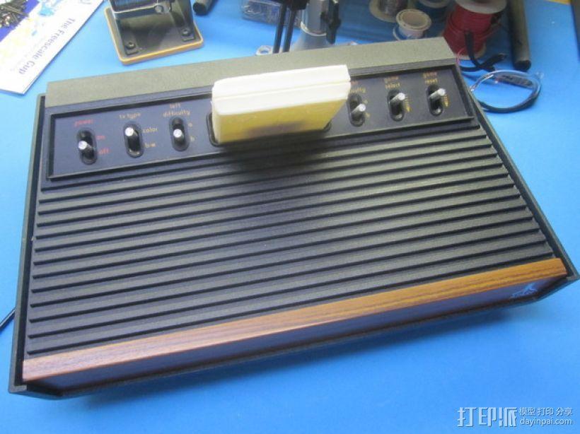 Atari 2600游戏机游戏卡外壳 3D模型  图1