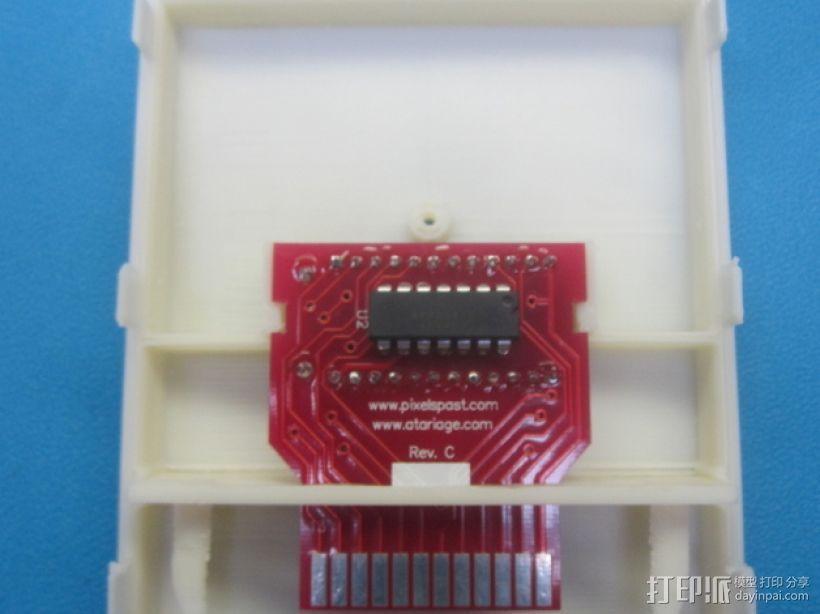 Atari 2600游戏机游戏卡外壳 3D模型  图4