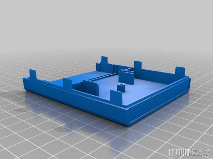 Atari 2600游戏机游戏卡外壳 3D模型  图5