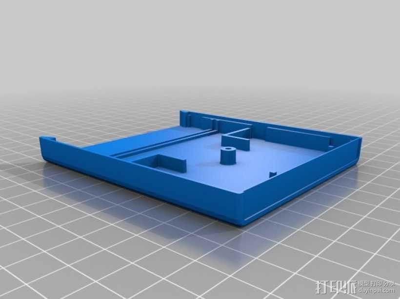 Atari 2600游戏机游戏卡外壳 3D模型  图6
