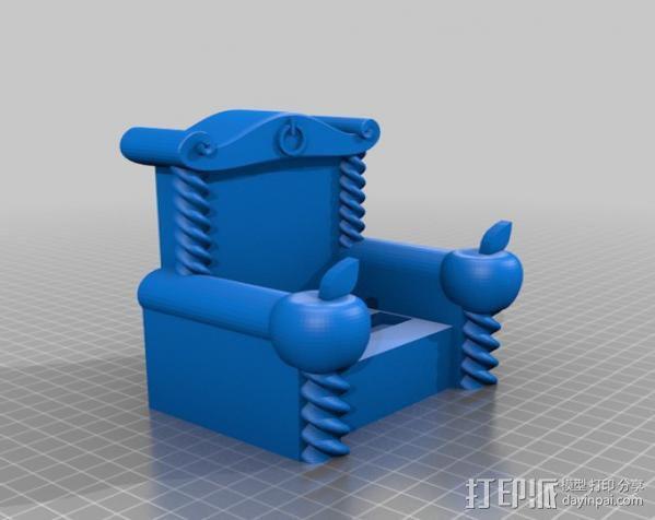 iThrone充电底座 3D模型  图2