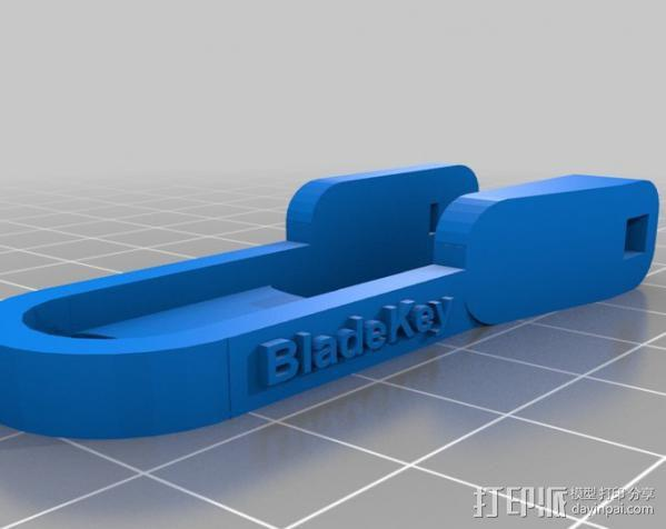 个性化钥匙扣 3D模型  图1